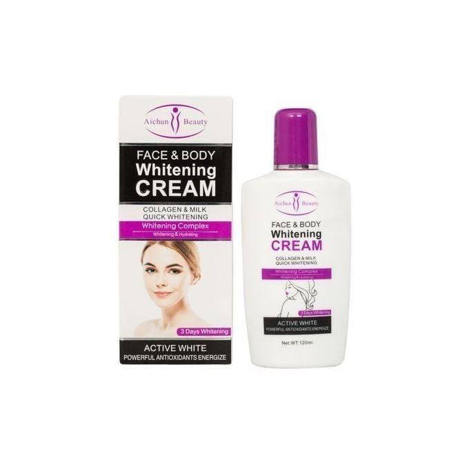 Aichun Face & Body Whitening Cream - Collagen & Milk Complex