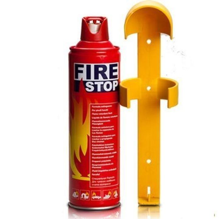 Fire extinguisher red and yellow