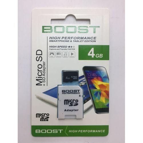Micro SD- Boost Memory card 4GB