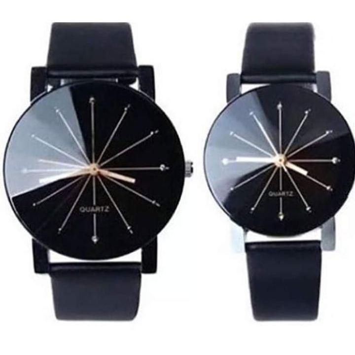 Quartz Couples Smart Casual Watches Black