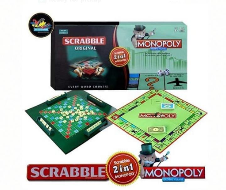 2 in 1 Scrabble &monopoly board game