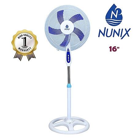 Nunix 16inch Standing Fan - White & Blue