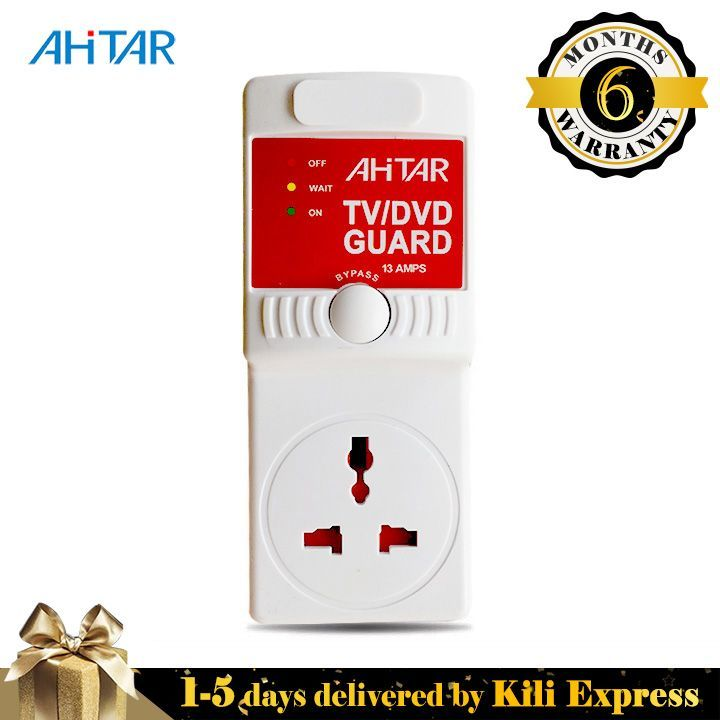 3A TV Guard Red Over Voltage Switcher Socket Protector for TVs, Media, Computers Monitors Default Default