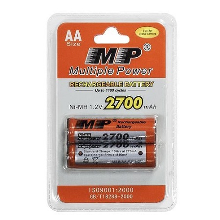 Multiple Power AA 1.2V 2700mAh Multiple Power Rechargeable Battery - MP Ni-MH
