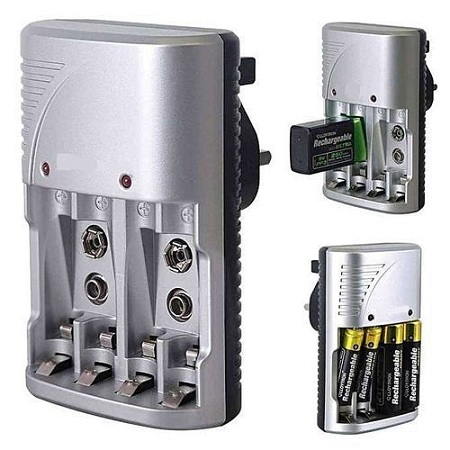 Multiple Power MP 709 Standard Charger 4 slots for AA AAA 9V Ni-mh Ni-cd Rechargeable Battery 220V