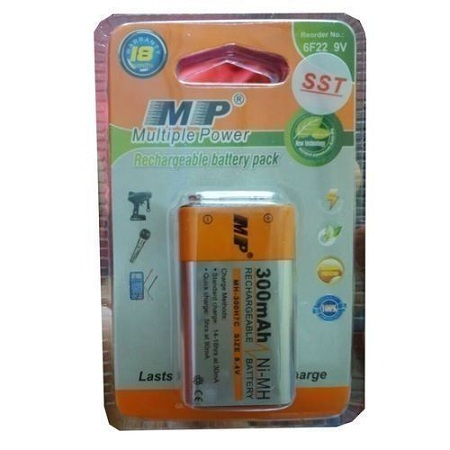 Multiple Power Rechargeable Battery - MP 9V - 300mAh