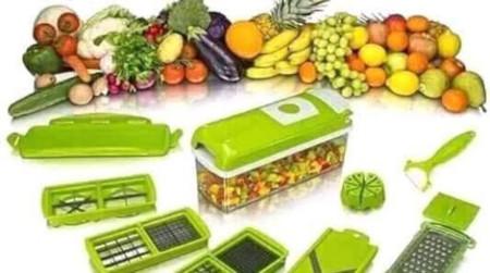 Nicer Dicer Plus 16 in1 Vegetable Fruit Chopper green