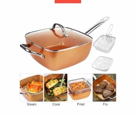 Non Stick Copper Square Casserole Pan