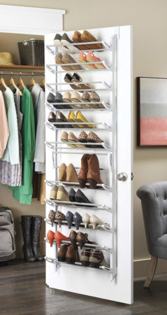 Over the door shoe rack