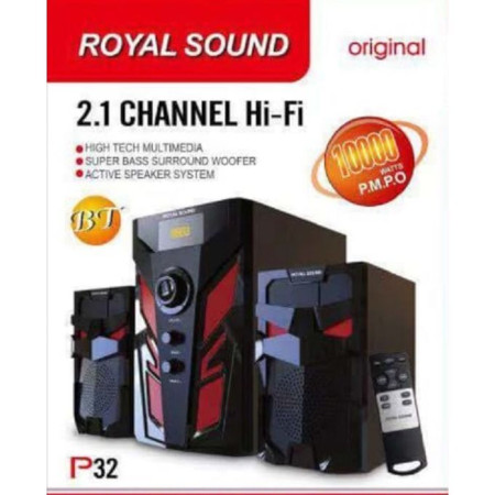 Royal Sound Subwoofer MultiMedia System-FM-USB,Bluetooth10000w