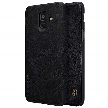 Nillkin Qin Series Royal Leather Flip Case Cover for Samsung Galaxy A6