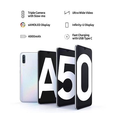 Samsung Galaxy A50 (Blue, 4GB RAM, 128GB Storage)