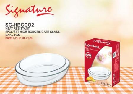 Signature High Borosilicate Glass Baking PansSignature High Borosilicate Glass Baking Pans