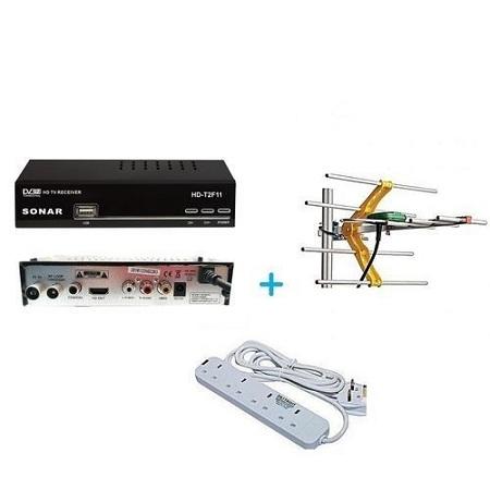 Sonar FTA Digital Decorder + USB + Aerial + Power Extension