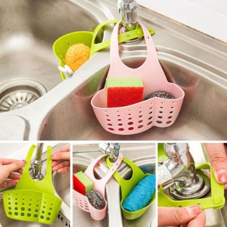 Sponge Holder Sink Caddy Organizer Soap Storage Basket