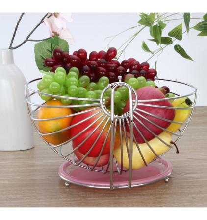 Stainless steel swing type fruit basket