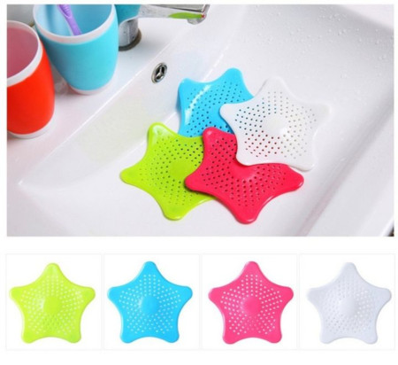 Star Plastic Bath Kitchen Waste Sink Strainer Hair Filter Drain