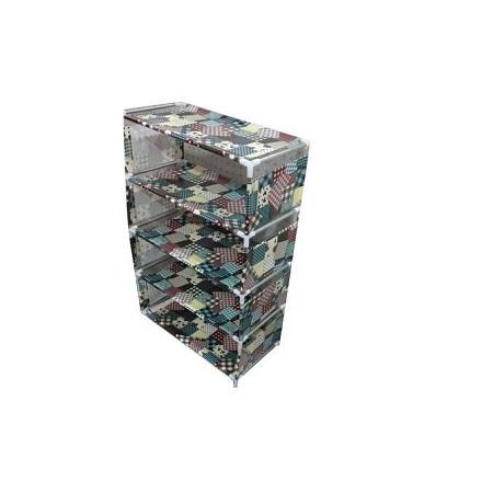 Generic 5 Tiers jungle green Shoe Rack With Dustproof Cover Closet Shoe Storage Cabinet Organizer - Green