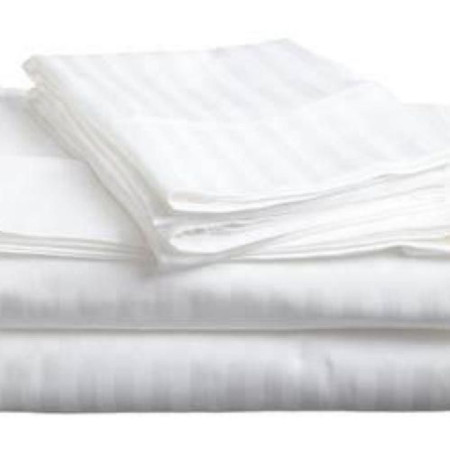 White Striped Bedsheets with cases