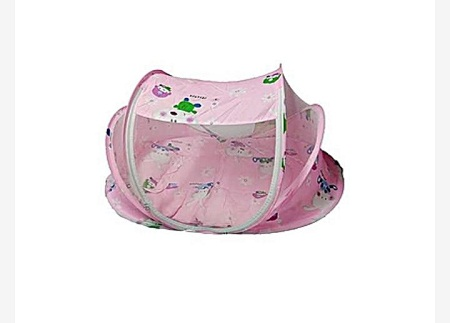 Large Unique New Design Baby Nest with Mosquito Net - Pink