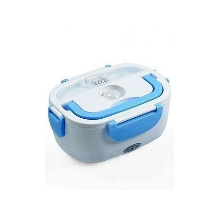 Portable Electric Lunch Box - White & Blue