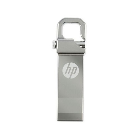 HP Flash Disk With Clip  - Silver