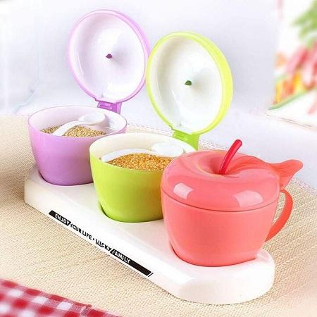 Apple Sugar Dish green 1 PC