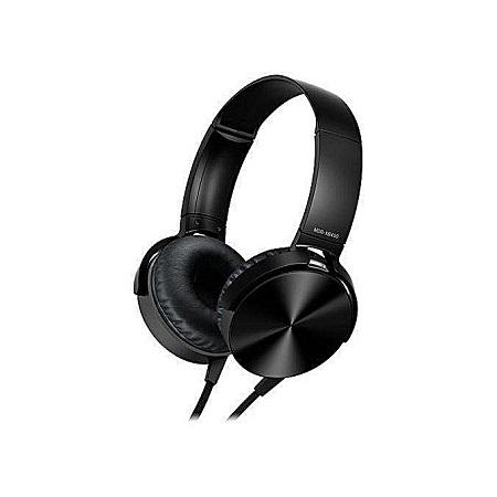 Extra Bass Headphones- Clear and Deep Black