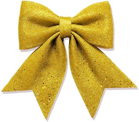 26.5 X 19 cm Glitter Foam Bow Gold