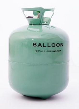 Helium Gas Refill in Green Metal Tank 13 Litres