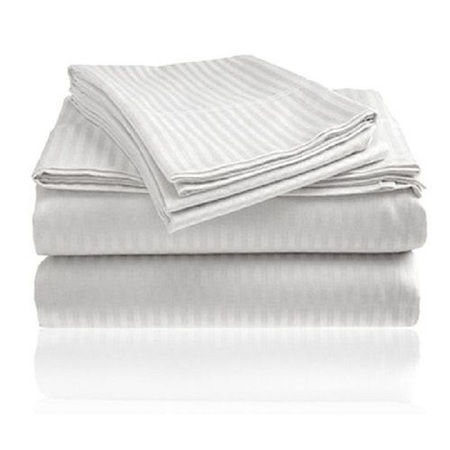 High Quality stripped bed sheets with Pillow Cases white 6*6