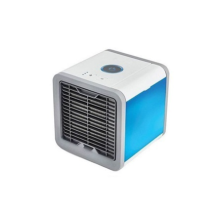Mini Air Conditioner Cooler with Air Humidifier Purifier white