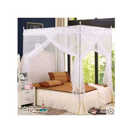 Mosquito Net with Metallic stand 5*6 - white