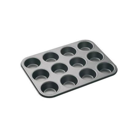 Non-Stick Cupcake Muffin Tray / Baking Pan Black black 6 cups