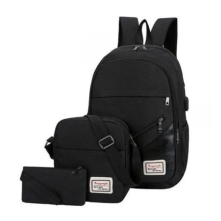 Fashion 3-In-1 Antitheft Backpacks - Black