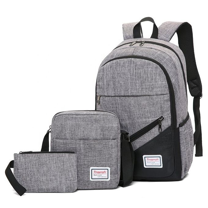Canvas 3-In-1 Laptop Backpacks - Grey