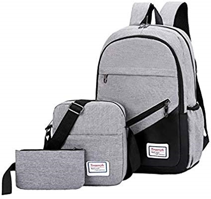 Durable 3 IN 1 Anti Theft Back Pack Bags - GREY