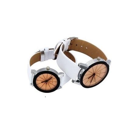 Fashion Couple Watches Women/Men Fashion Watch Leather Watch White
