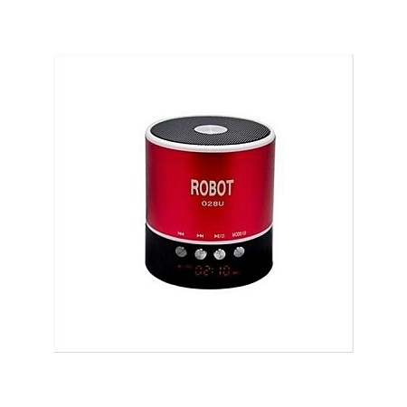 Robot Mini Bluetooth Wireless Stereo Speakers-Red