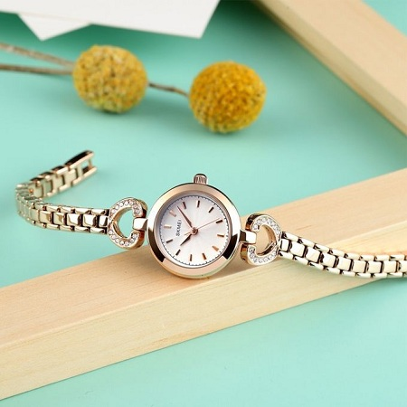 Fashion Stainless Steel Bracelet Ladies CasualDesign Clock