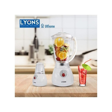 Lyon White 2 In 1 Blender With Grinding Machine 1.5L