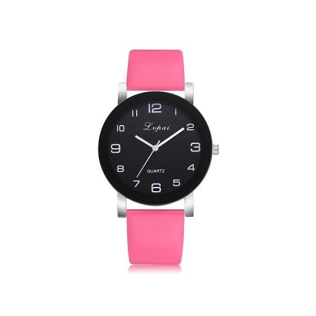 Fashion Women Fashion Small Leather Band Analog Quartz Wrist Watch