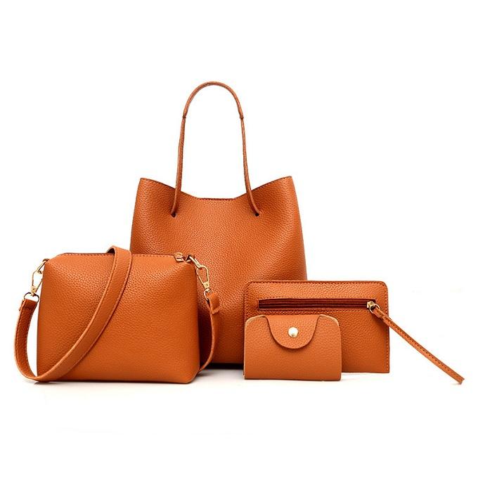 4 in 1 Leather Bucket Handbag set