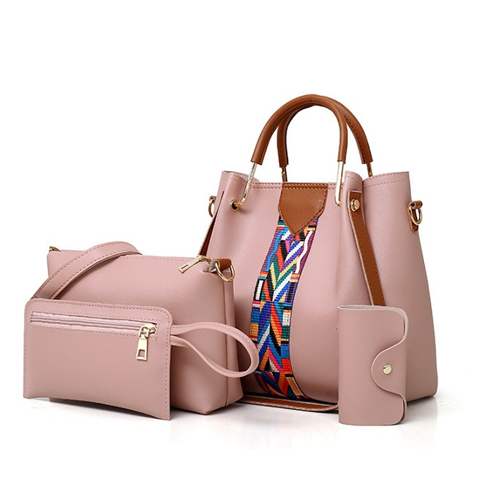 Generic 4 in 1 women leather handbags White