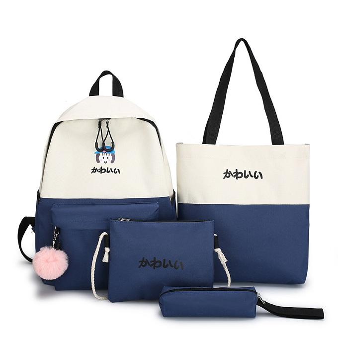 Backpack Set shoulder pack canvas school student travel beg galas sekolah handbag Tote sling bag for women