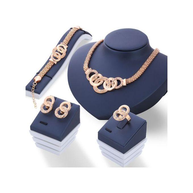 Fashion 5 Piece/Set Necklace Pendant Earring Studs