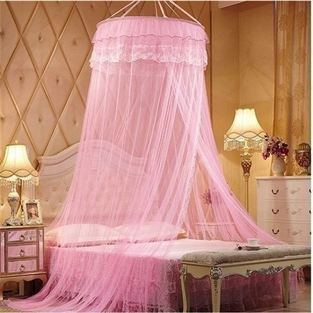 Round Mosquito Net pink free size