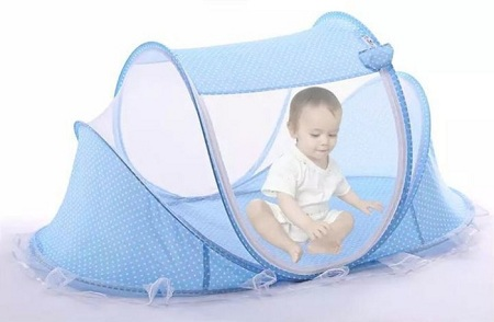 Portable Travel Folding New born Mosquito Net Blue Normal