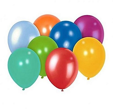 Round Balloon Metallic and Pearl Assorted Colors 100 Pieces