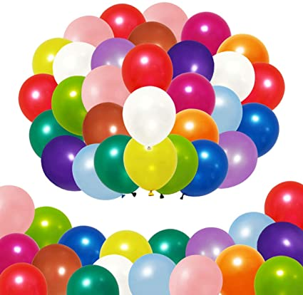Round Balloons and Pastel Assorted Colors 100 Pieces